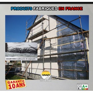 LOT 105m² ISOLANT MINCE multicouche 20 composants